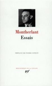 Henry de Montherlant - Essais.