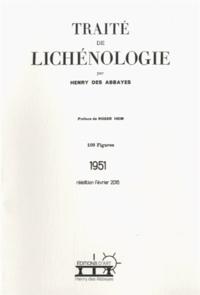 Henry Des Abbayes - Traité de lichénologie.