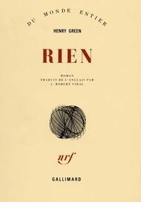 Henry Green - Rien.