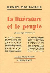 Henry Poulaille - Nouvel âge littéraire - Tome 2, La littérature et le peuple.