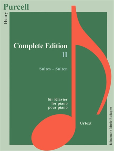 Henry Purcell - Purcell - Edition Complètes II - Suites - Pour piano - Partition.