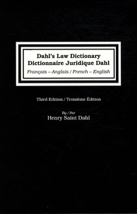 Deedr.fr Dictionnaire Juridique Dahl - Edition français-anglais et anglais-français Image