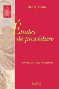 Henry Vizioz - Etudes de procédure.