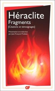 Héraclite d'Ephèse - Fragments - Citations et témoignages.