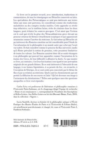 Présocratiques latins