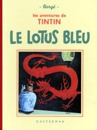 Hergé - Les Aventures de Tintin  : Le Lotus bleu - Edition fac-similé en noir et blanc.