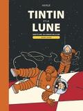 Hergé - Les Aventures de Tintin  : Tintin et la Lune - Double album : Objectif Lune ; On a marché sur la Lune.