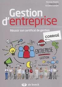 Histoiresdenlire.be Gestion d'entreprise - Réussir son certificat de gestion - Corrigé Image