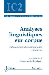 Hermes science publications - Analyses linguistiques sur corpus (traité IC2, série cognition et traitement de l'information).