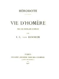 Hérodote - Vie d'Homère.