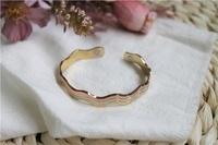 Hervé Bartos - Bracelet cuivre avec Aimants Jonc Forme vagues 3 métaux.