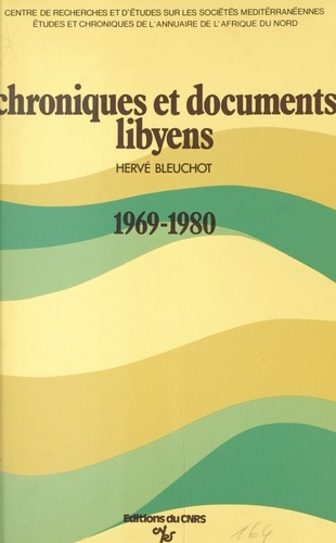 Chroniques et documents libyens, 1969-1980