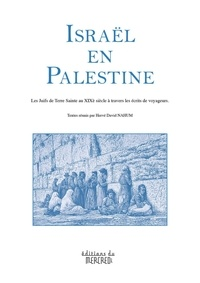 Hervé David Nahum - Israël en Palestine - Les Juifs de Terre Sainte au XIXe siècle à travers les écrits de voyageurs.