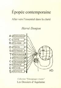 Hervé Donjon - Epopée contemporaine - Aller vers l'essentiel dans la clarté.
