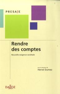 Hervé Dumez - Rendre des comptes : nouvelle exigence sociétale.