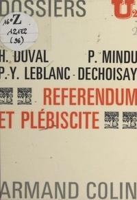 Hervé Duval et Jacques Georgel - Référendum et plébiscite.