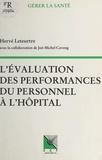 Hervé Leteurtre - L'évaluation des performances du personnel à l'hôpital.