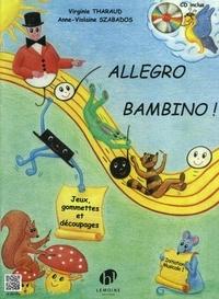Virginie Tharaud - Allegro bambino ! - Initaition musicale 1. 1 CD audio MP3