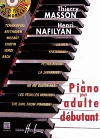 Thierry Masson et Henri Nafilyan - Le piano pour adulte débutant. 2 CD audio