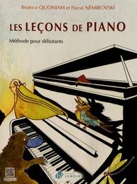 Béatrice Quoniam et Pascal Némirovski - Les leçons de piano - Méthode pour débutants.