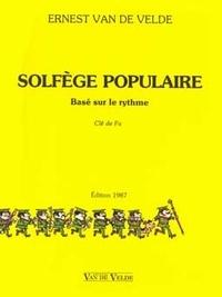 Ernest Van de Velde - Solfège populaire basé sur le rythme - Clé de fa.