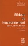 Hicham-Stéphane Afeissa - Ethique de l'environnement - Nature, valeur, respect.