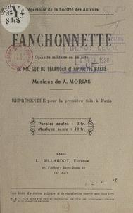 Hippolyte Barbé et Guy de Téramond - Fanchonnette - Opérette militaire en un acte.