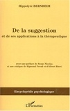 Hippolyte Bernheim - De la suggestion et de ses applications à la thérapeutique.