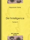 Hippolyte Taine - De l'intelligence - Tome II.