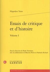 Hippolyte Taine - Essais de critique et d'histoire - Volume 1.