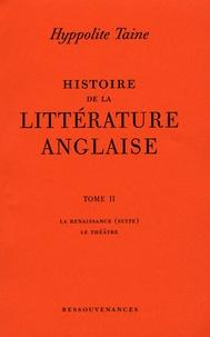 Deedr.fr Histoire de la littérature anglaise - Tome 2 : La Renaissance (suite) ; Le Théâtre Image