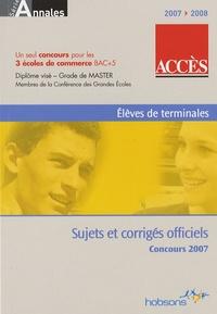 Hobsons - ACCES - Annales du concours 2007.