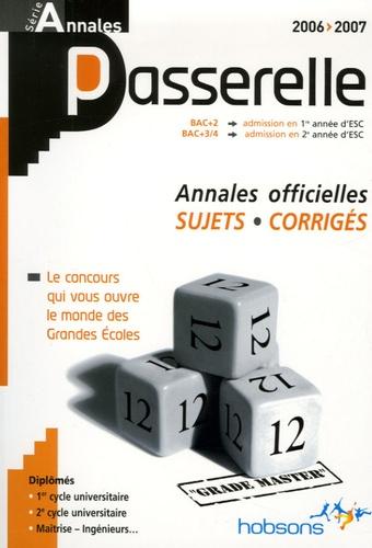 Hobsons - Annales Passerelle ESC Concours 2006 - Sujets et corrigés.