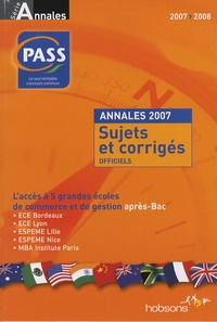 Era-circus.be Concours PASS - Annales du concours 2007, sujets et corrigés officiels Image