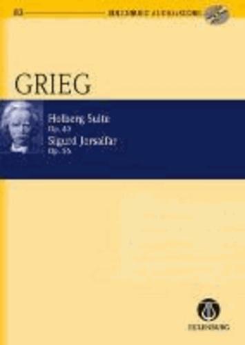 Holberg Suite / Sigurd Jorsalfar - op. 40 / op. 56. Streichorchester. Studienpartitur + CD..