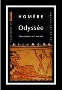 Homère - Odyssée Coffret en 3 volumes : Tome 1, Chants I à VII ; Tome 2, Chants VIII à XV ; Tome 3, Chants XVI à XXIV - Edition bilingue français-grec ancien.