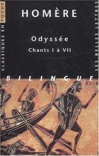 Homère - Odyssée - Chants I à VII, édition bilingue français-grec.