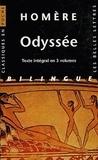 Homère - Odyssée - Coffret 3 volumes, édition bilingue français-grec.
