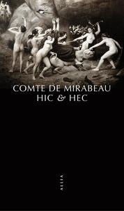 Honoré-Gabriel de Mirabeau - Hic & Hec - Ou l'art de varier les plaisirs de l'amour.