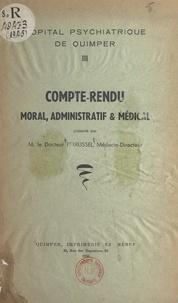 Hôpital psychiatrique de Quimp et Georges Perrussel - Compte-rendu moral, administratif et médical.
