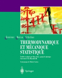 THERMODYNAMIQUE ET MECANIQUE STATISTIQUE - Horst Stöcker | Showmesound.org