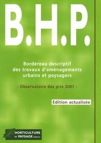 Ebooks à téléchargement gratuit pour kindle Bordereau descriptif des travaux d'aménagement urbains et paysagers (BHP)  - Observatoire des prix 2007 PDF ePub