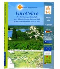 Huber Verlag - Eurovelo 6 de l'Atlantique au Rhin à vélo - 1/100 000.