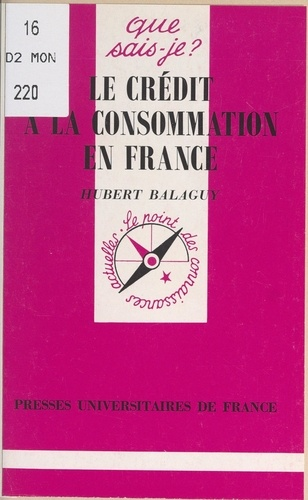 Le crédit à la consommation en France