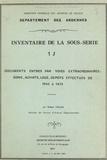 Hubert Collin - Inventaire de la sous-série 1 J : documents entrés par voies extraordinaires, dons, achats, legs, dépôts effectués de 1945 à 1975.
