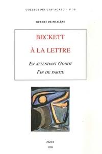 """Hubert de Phalèse - Beckett à la lettre, """"En attendant Godot"""", """"Fin de partie""""."""