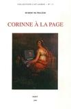 """Hubert de Phalèse - Corinne à la page - Analyse du roman de Mme de Staël, """"Corinne ou l'Italie""""."""