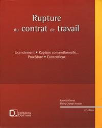 Hubert Flichy et Laurent Gamet - Rupture du contrat de travail - Licenciement, rupture conventionnelle... Procédure, contentieux. 1 Cédérom
