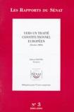 Hubert Haenel - Vers un traité constitutionnel européen - Octobre 2003.