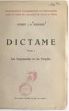 Hubert J. A. Simplisse - Dictame (1) - Les Jargonautes et les Oxydés. La philosophie des Jargonautes produit des chardons et des Oxydés.